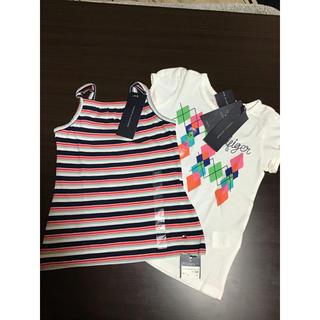 トミーヒルフィガー(TOMMY HILFIGER)のトミーヒルフィガー☆100-110センチ☆未使用キャミソールTシャツセット(Tシャツ/カットソー)
