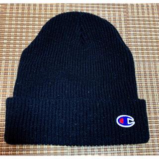 チャンピオン(Champion)のチャンピオンのニット帽⭐︎ブラック(ニット帽/ビーニー)