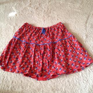 プードゥドゥ(POU DOU DOU)の送料込☆花柄の膝丈スカート(ひざ丈スカート)
