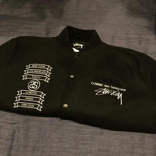 コムデギャルソン(COMME des GARCONS)のstussy x cdg varsity jacket L(スタジャン)