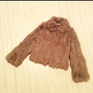 ストロベリーフィールズ(STRAWBERRY-FIELDS)のラビットファーコート ファーコート アウター コート(毛皮/ファーコート)