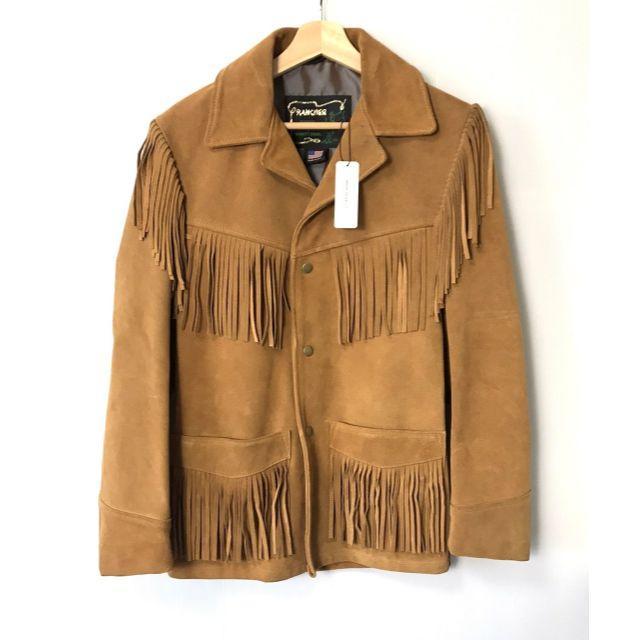 schott(ショット)の【H】ショット アメリカンラグシー 別注 フリンジレザージャケット 32 メンズのジャケット/アウター(レザージャケット)の商品写真