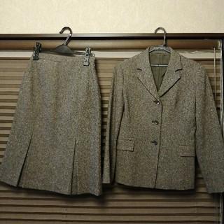 ストロベリーフィールズ(STRAWBERRY-FIELDS)の【ストロベリーフィールズ】ツイード スーツ 茶色(スーツ)