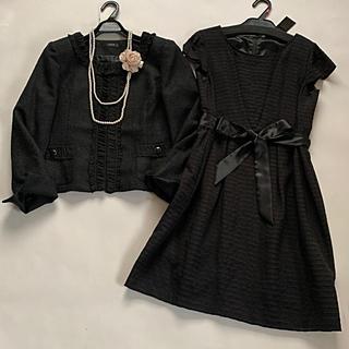 アーヴェヴェ(a.v.v)のa.v.v セットアップ ツイードジャケット ワンピース スーツ(スーツ)