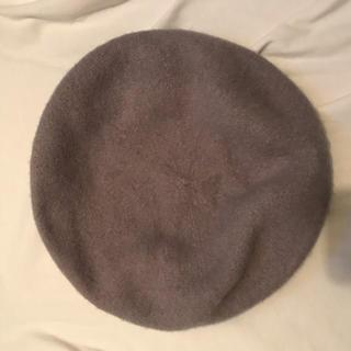 ジーユー(GU)のベレー帽 グレー(ハンチング/ベレー帽)