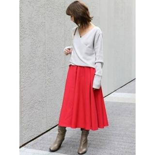 ノーブル(Noble)の中古サイズ36 NOBLE Wタイプライターフレアスカート(ひざ丈スカート)