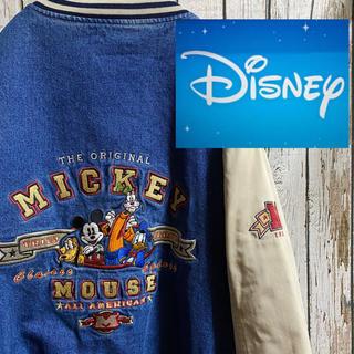 ディズニー(Disney)の90s 希少 ディズニー 刺繍 デニム スタジャン ミッキー ドナルド(スタジャン)