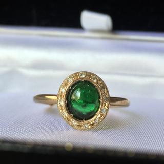 アッシュペーフランス(H.P.FRANCE)のtatsuo nagahata クロムトルマリン リング ダイヤモンド ダイヤ (リング(指輪))