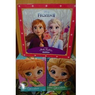 アナトユキノジョオウ(アナと雪の女王)のQposketアナと雪の女王 フィギュア2個 バタークッキー缶セット(アニメ/ゲーム)