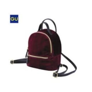 ジーユー(GU)のGU:ベロアミニバックパック(リュック/バックパック)