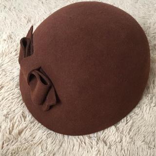 アンアナザーアンジェラス(an another angelus)のan3 リボンデザインクラシカルベレー(ハンチング/ベレー帽)