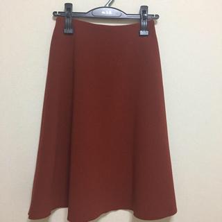 エムプルミエ(M-premier)の美品☆M-premier black ウエストゴムAラインスカート☆34P(ひざ丈スカート)