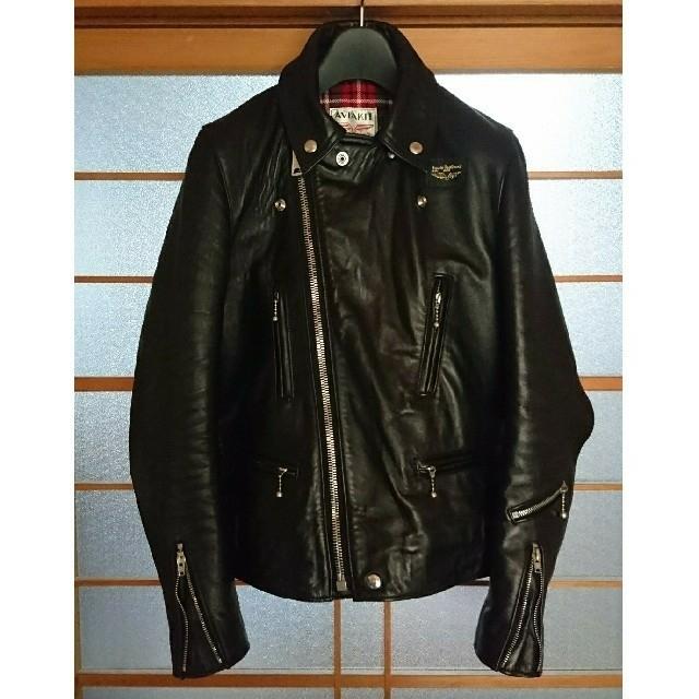 Lewis Leathers(ルイスレザー)のルイスレザー 402Tタイトフィットライトニング 34 ラットランドシープスキン メンズのジャケット/アウター(ライダースジャケット)の商品写真