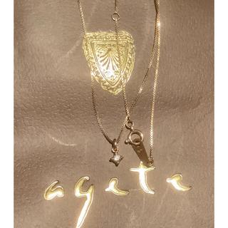 アガット(agete)のアガット agate K 18 一粒ダイヤモンドのネックレス 深津ネックレス(ネックレス)