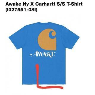 アウェイク(AWAKE)のCarhartt awake  Tシャツ 青 L(Tシャツ/カットソー(半袖/袖なし))