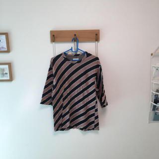 シャリーフ(SHAREEF)のSHAREEF BIAS STRIPE BIG-T(Tシャツ/カットソー(七分/長袖))