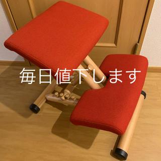 ストッケ(Stokke)のSTOKKE ストッケ バランスチェア 姿勢矯正 マルチバランス 赤 レッド(デスクチェア)