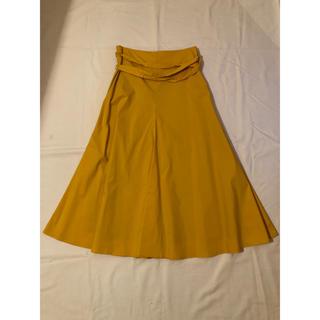 デミルクスビームス(Demi-Luxe BEAMS)のデミルクスビームス 美品! ダブルループ フレアスカート(ひざ丈スカート)