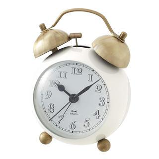 イデアインターナショナル(I.D.E.A international)のBRUNO ゴールドツインベルクロック アイボリー BCA001-IV(置時計)