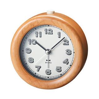 イデアインターナショナル(I.D.E.A international)のBRUNO  ウッドアラームクロック ナチュラルウッド(置時計)
