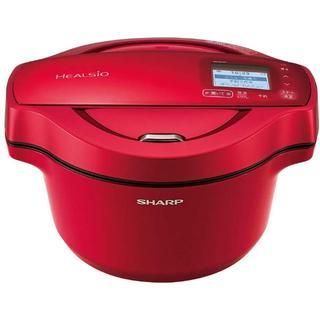 シャープ(SHARP)の[新品]ヘルシオ ホットクック 1.6L 電気無水鍋 KN-HW16E-R(調理機器)