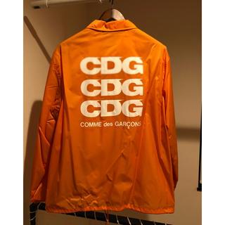 コムデギャルソン(COMME des GARCONS)のコムデギャルソン CDG コーチジャケット  限定 オレンジ L(ナイロンジャケット)