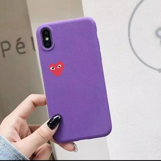 コムデギャルソン(COMME des GARCONS)のコムデギャルソン風 iPhoneケース パープル 紫(iPhoneケース)