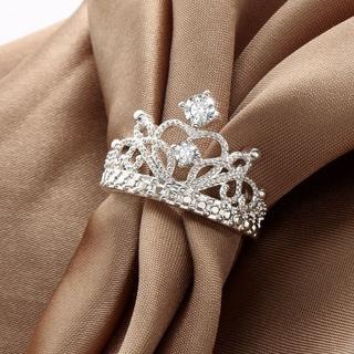 王冠リング 指輪 レディース シルバー サイズ15(リング(指輪))