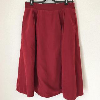 アルピーエス(rps)の膝丈スカート 赤 レッド チェック 緑(ひざ丈スカート)