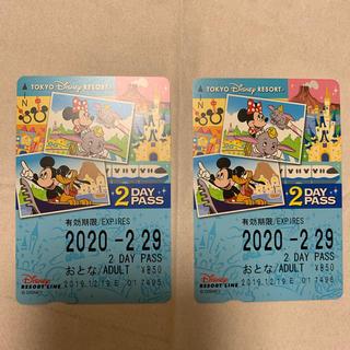 ディズニー(Disney)のディズニーリゾートライン 2day PASS(その他)