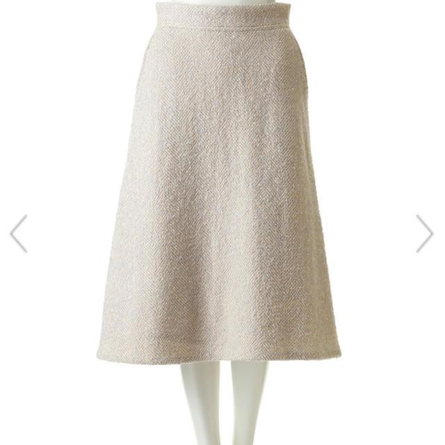 martinique Le Conte(マルティニークルコント)のマルティニーク  ネップツイードスカート レディースのスカート(ひざ丈スカート)の商品写真