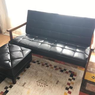 カリモクカグ(カリモク家具)のカリモク60/Kチェア2シーター/ブラック(ソファセット)