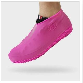 レイン シューズ カバー 2セット(ピンク&ブラック)(長靴/レインシューズ)