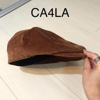カシラ(CA4LA)のCA4LA コーデュロイハンチング帽☆(キャスケット)