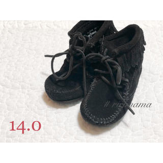 ミネトンカ(Minnetonka)の未使用  ミネトンカ  フリンジブーツ  モカシン  14cm(ブーツ)