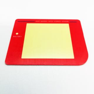 ゲームボーイ(ゲームボーイ)の初代ゲームボーイパーツ スクリーンレンズ(カラー:レッド)(携帯用ゲーム機本体)