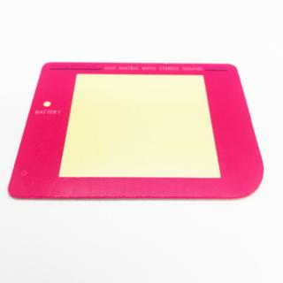 ゲームボーイ(ゲームボーイ)の初代ゲームボーイパーツ スクリーンレンズ(カラー:ピンク)(携帯用ゲーム機本体)