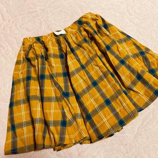 エニィファム(anyFAM)の美品★anyfam エニィファムキッズ★チェック柄スカート 130(スカート)