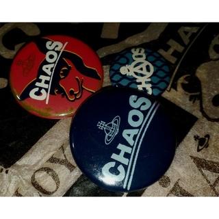 ヴィヴィアンウエストウッド(Vivienne Westwood)のレア★ワールズエンド★CHAOS缶バッジ3個セット🎵ヴィヴィアンウエストウッド(その他)