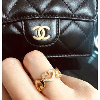 カルティエ(Cartier)のカルティエ  cハート リング 9号 18K PG ダイヤ(リング(指輪))