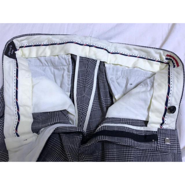 ORIHICA(オリヒカ)のオリヒカ チェックパンツ ビジネスカジュアル メンズ グレー 85cm メンズのパンツ(スラックス)の商品写真
