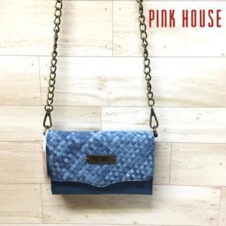 ピンクハウス(PINK HOUSE)の【PINK HOUSE 】ショルダーバッグ デニム チェーン メッシュ(ショルダーバッグ)