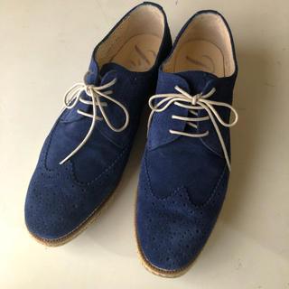 サヴァサヴァ(cavacava)の美品 pertini 本革スエード レースアップジューズ おじ靴(ローファー/革靴)