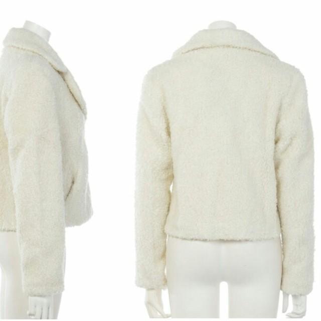 Nina mew(ニーナミュウ)の【冬物最終値下げ】nina mew新品ボアジャケットファーコートレディース白 レディースのジャケット/アウター(毛皮/ファーコート)の商品写真