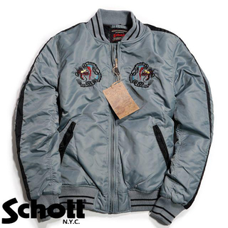 ショット(schott)のSchott NYC ショット ★XXL 刺繍 スカジャン スーベニアジャケット(スタジャン)