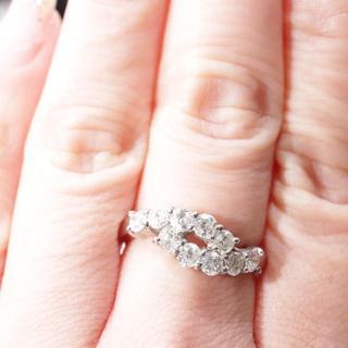 サイズお直しコミコミ ダイヤモンド 1カラット プラチナ リング(リング(指輪))