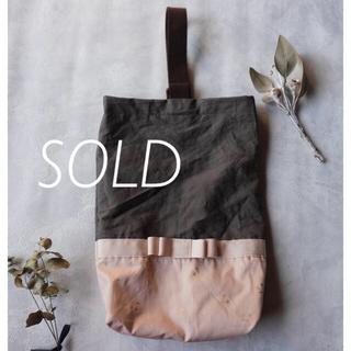 ファミリア(familiar)の【handmade】シューズバッグ 上靴入れ ¥1400 チェリー×リボン(バッグ/レッスンバッグ)