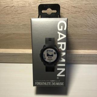 GARMIN - 【新品未使用】GARMIN ForeAthlete 245 Music ブラック