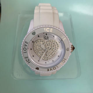 アイスウォッチ(ice watch)のアイスウォッチ スワロフスキーハート 白(腕時計)