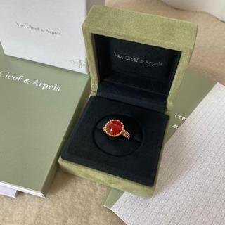 ヴァンクリーフアンドアーペル(Van Cleef & Arpels)のヴァンクリーフ&アーペル ペルレ クルール リング 指輪 カーネリアン 美品(リング(指輪))